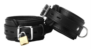 Strict Leather Premium Locking Wrist Cuffs - Fun and Kinky Sex Toys