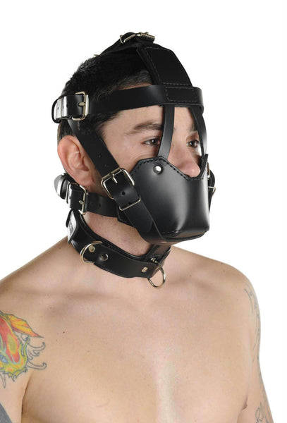 Strict Leather Padded Muzzle - Fun and Kinky Sex Toys