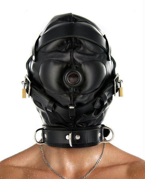 Strict Leather Sensory Deprivation Hood - Fun and Kinky Sex Toys