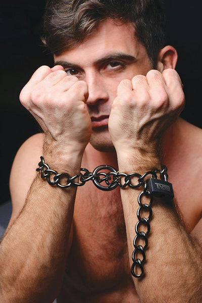 Tom of Finland Locking Chain Cuffs - Fun and Kinky Sex Toys