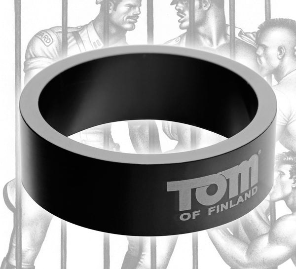 Tom of Finland 60mm Aluminum Cock Ring - Fun and Kinky Sex Toys