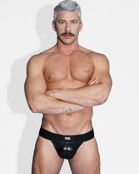 Tom of Finland Leather Jock Strap- S-M - Fun and Kinky Sex Toys