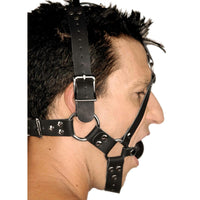 Leather Ball Gag Harness - Fun and Kinky Sex Toys