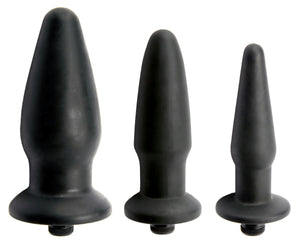 Trinity Silicone Vibrating Butt Plug - Fun and Kinky Sex Toys