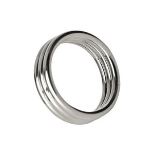 Echo 1.75 Inch Stainless Steel Triple Cock Ring - Fun and Kinky Sex Toys