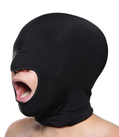 Blow Hole Open Mouth Spandex Hood - Fun and Kinky Sex Toys