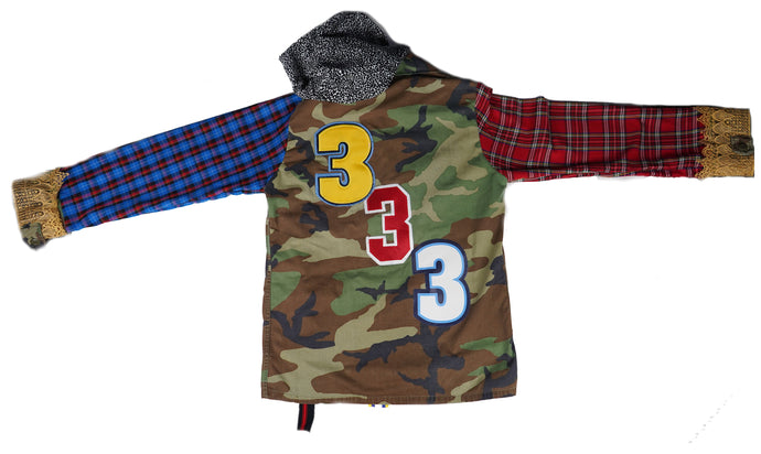 333 Mixed Flannel Camoflauge Jacket