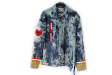 Load image into Gallery viewer, Divine Stamp Denim Jacket