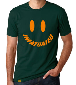 INFATUATED Face in Forest Green x Orange T-Shirt