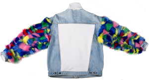 Color Outside Denim Jacket - sample sale