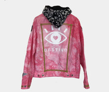 "Load image into Gallery viewer, ""DESTINO"" - Pink Custom Denim Jacket // SOLD //"