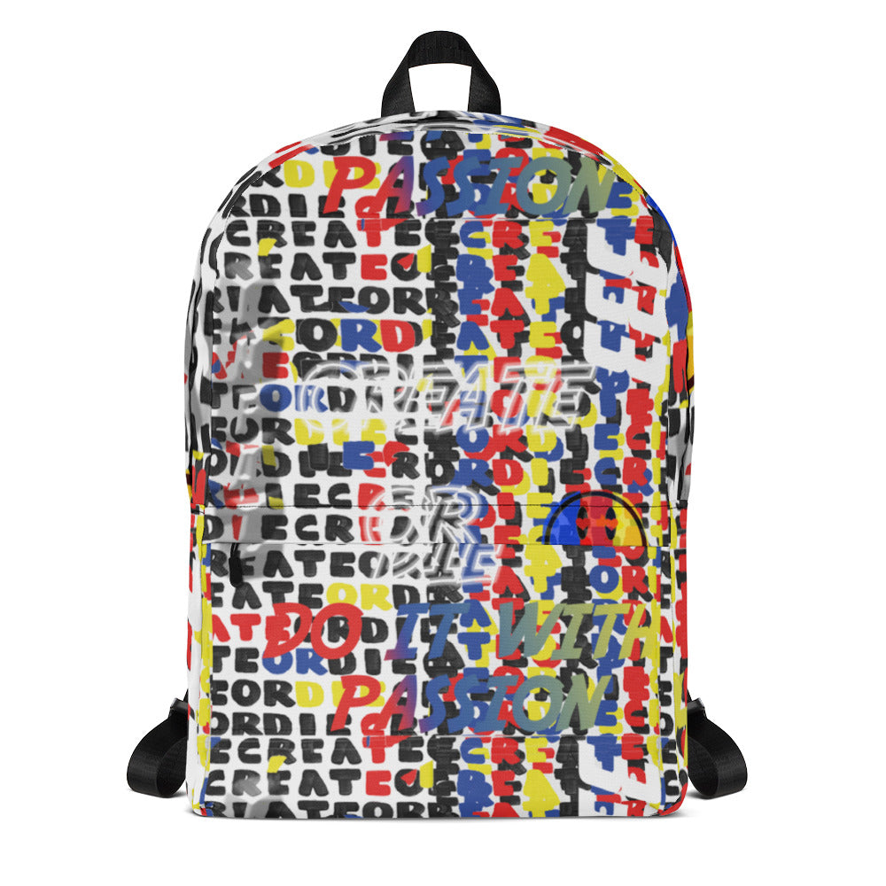 CREATE OR DIE COLLAGE Backpack