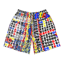 Load image into Gallery viewer, Create or Die Collage Men's Athletic Long Shorts