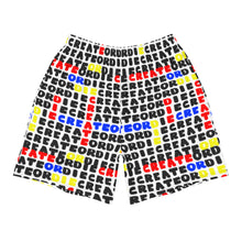 Load image into Gallery viewer, Crossword Create or Die Men's Athletic Long Shorts