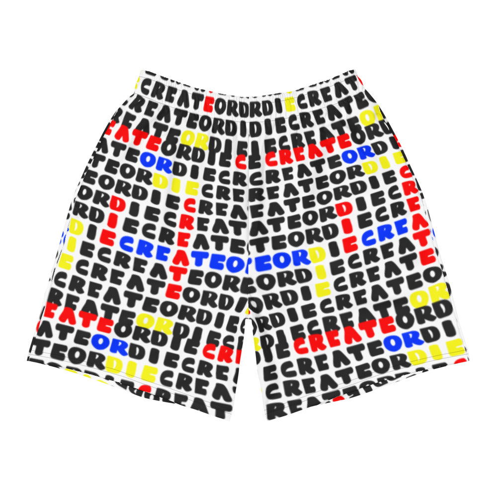 Crossword Create or Die Men's Athletic Long Shorts