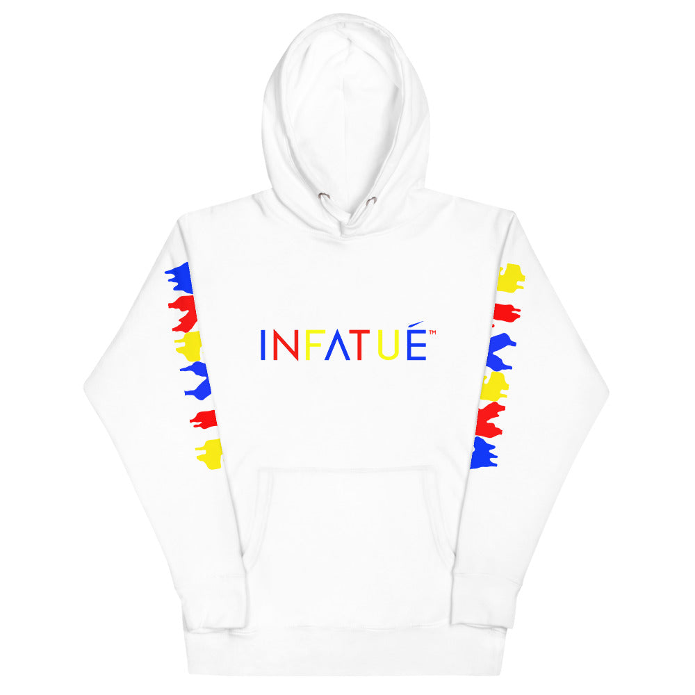 INFATUÉ in Primary Colors Unisex Hoodie