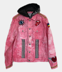 """DESTINO"" - Pink Custom Denim Jacket // SOLD //"
