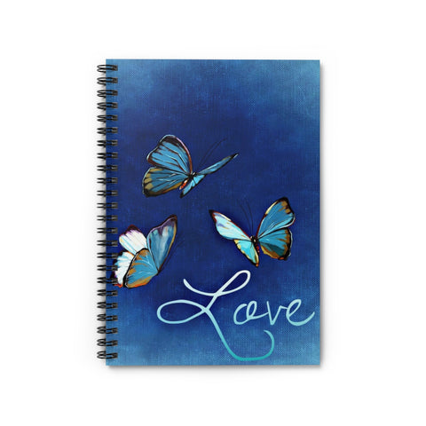 Butterfly Spiral Notebook - Ruled Line