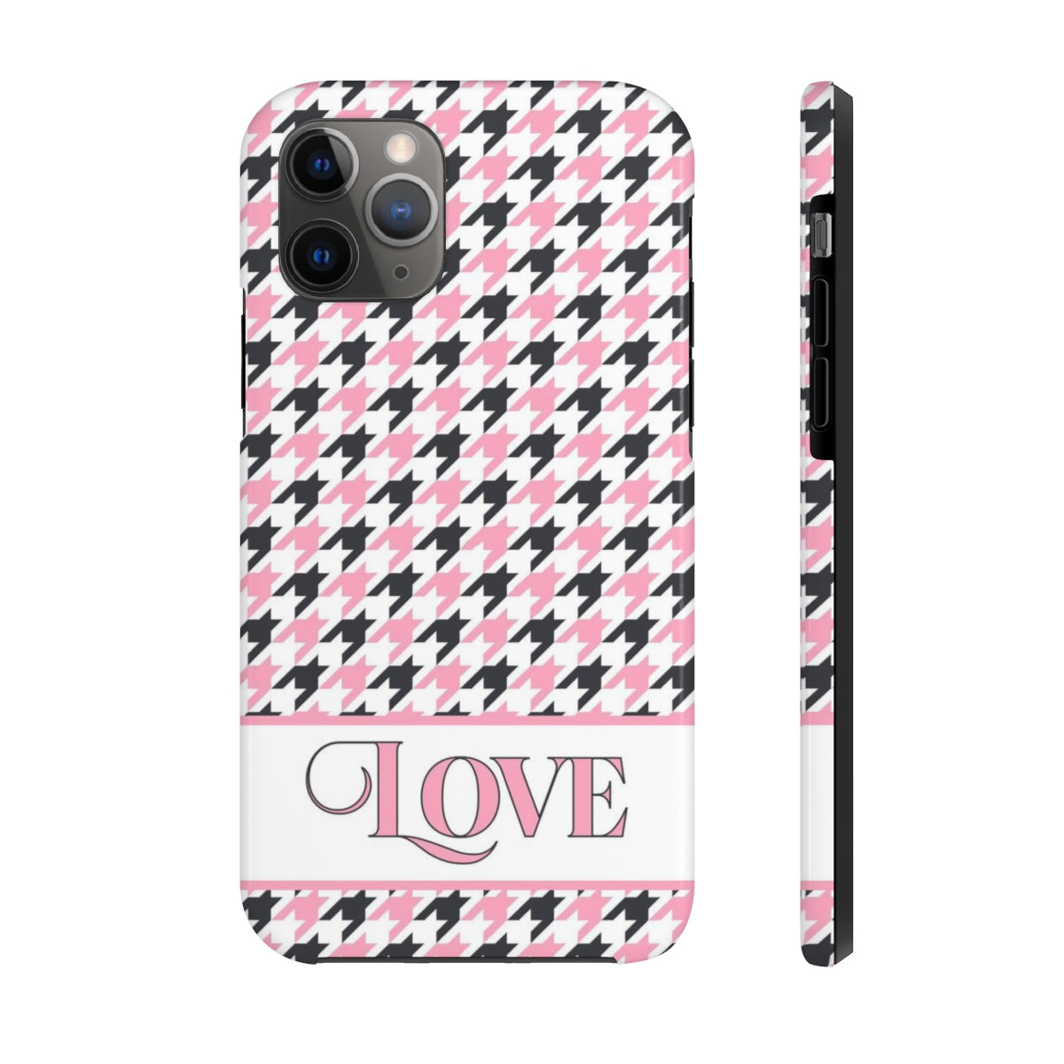 LOVE - Houndstooth Phone Case
