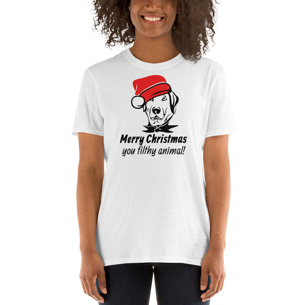 PERSONALIZE Santa Dog - Short-Sleeve Unisex T-Shirt