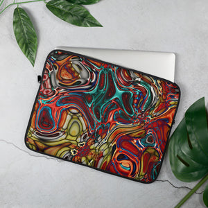 Abstract Stained Glass Laptop Sleeve - 15 in
