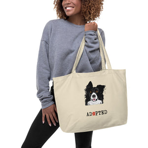 PERSONALIZE Pet Adoption Large organic tote bag