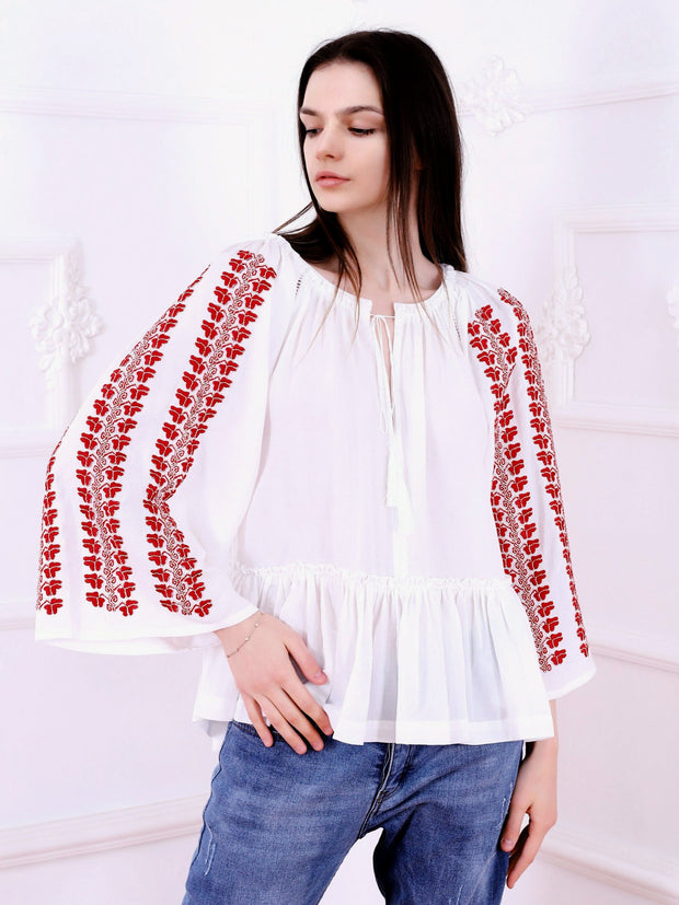 'I Love You' Blouse - White-Colored Fabric