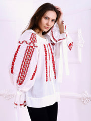 Sibiu Blouse - Ecru-Colored Fabric-FLORII-