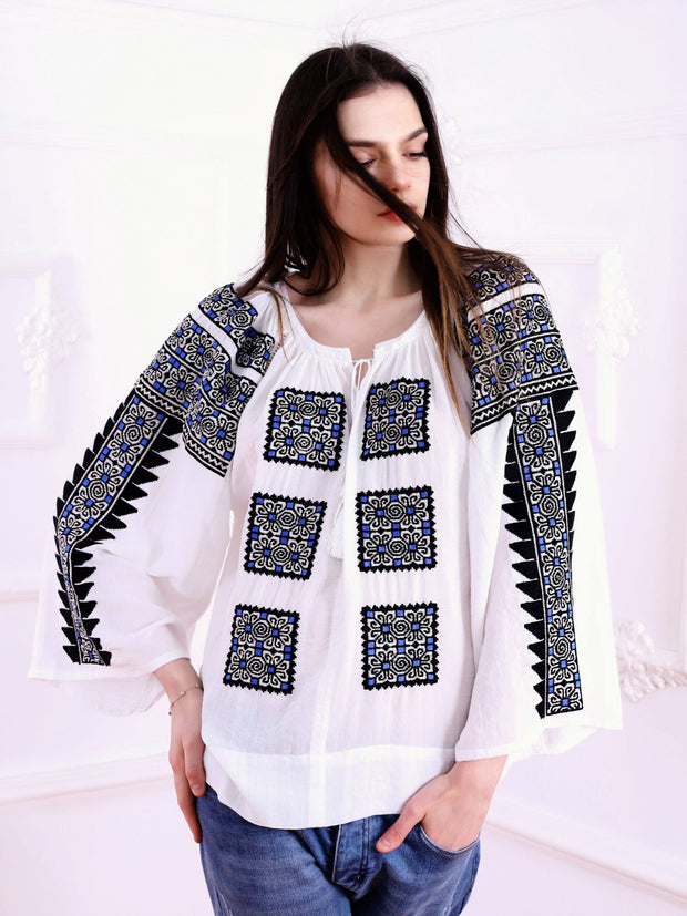 Beauty Emergence Blouse - Ecru-Colored Fabric