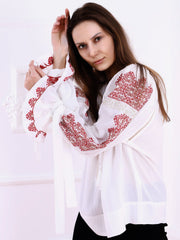Royal Blouse - White-Colored Fabric