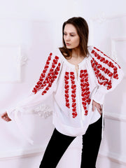 Sakura Blouse - White-Colored Fabric