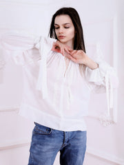 Maria Blouse - Ecru-Colored Fabric-FLORII-XS-Ecru