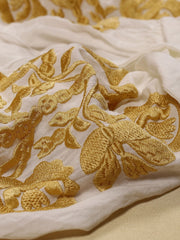 Tree of Life Blouse - Ecru-Colored Fabric-FLORII-XS-Mustard Yellow