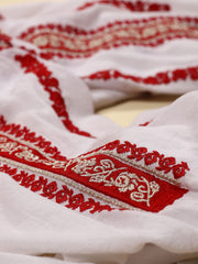 Sibiu Blouse - White-Colored Fabric-FLORII-XS-Milano-Red-Golden-Thread