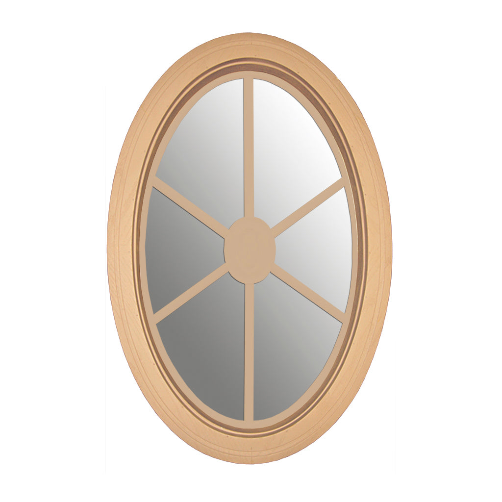 Clear Oval Window with Sunburst Design Grille