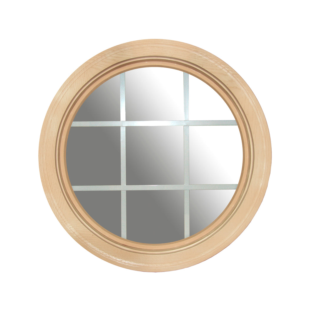 Clear Round Window with White Internal Grille