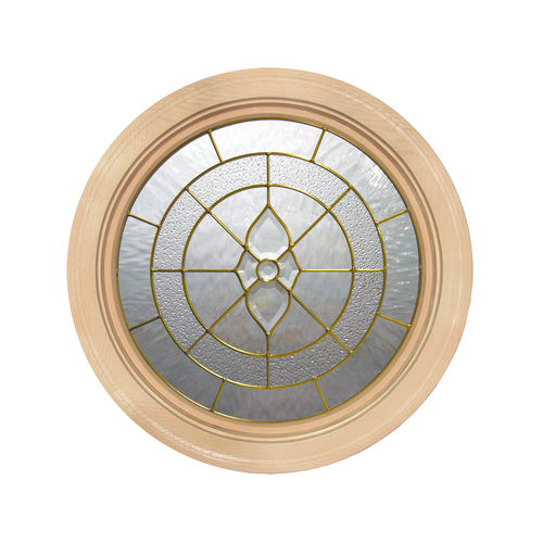Cape May Round Window with Brass Caming
