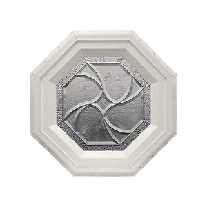 Bevelpane Octagon Window with Star Deco Beige