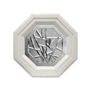 Bevelpane Octagon Window with Multi-bevel Deco Beige