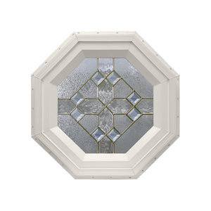 8-Diamond Octagon Window Beige