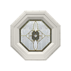 Bevel Cluster Stationary Octagon Window Beige