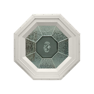 GC Hummingbird Stationary Octagon Window with Zinc Caming Beige