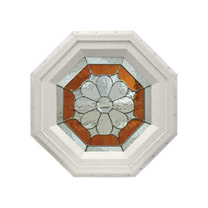 Petal Stationary Octagon Window Beige