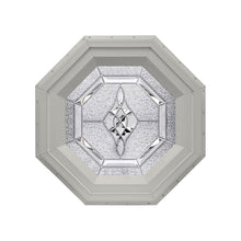 Bevelpane Octagon Window with Bevel Deco Clay