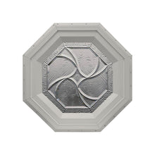 Bevelpane Octagon Window with Star Deco Clay