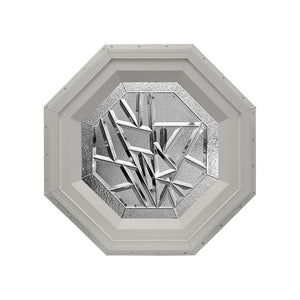 Bevelpane Octagon Window with Multi-bevel Deco Clay