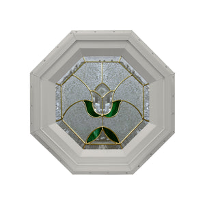 Tulip Stationary Octagon Window Clay