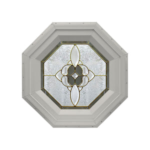 Bevel Cluster Stationary Octagon Window Clay