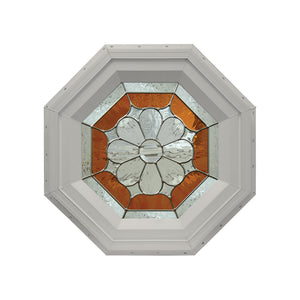 Petal Stationary Octagon Window Clay