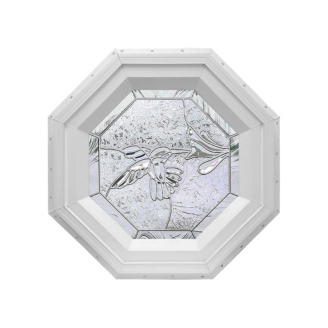 Bevelpane Octagon Window with Hummingbird Deco